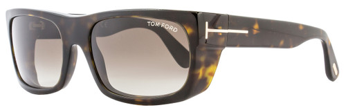 Tom Ford Rectangular Sunglasses TF440 Toby 52K Dark Havana FT0440