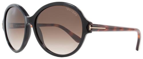 Tom Ford Round Sunglasses TF9343 Milena 05B Black/Dark Havana FT9343