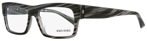Alain Mikli Rectangular Eyeglasses A01344M B0I7 Size: 54mm Striped Gray 1344M