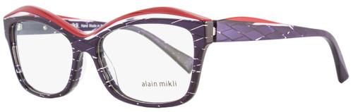 Alain Mikli Rectangular Eyeglasses A03042 R891 Size: 54mm Violet/Red 3042