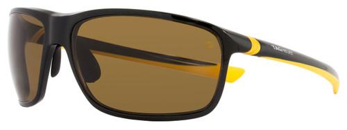 Tag Heuer Sport Sunglasses TH6023 27° 205 Shiny Black/Mustard Polarized 6023