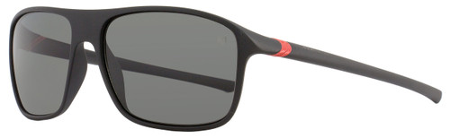 Tag Heuer Square Sunglasses TH6041 27° 909 Matte Black/Red Polarized 6041