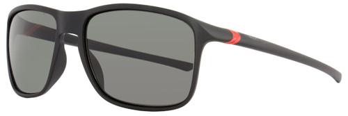 Tag Heuer Square Sunglasses TH6042 27° 909 Matte Black/Red Polarized 6042
