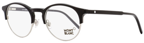 Montblanc Oval Eyeglasses MB555 001 Size: 48mm Black/Palladium 555