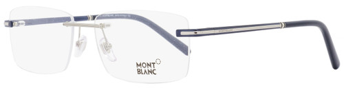 Montblanc Rimless Eyeglasses MB577F 090 Size: 60mm Navy Blue/Palladium 577