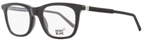 Montblanc Rectangular Eyeglasses MB610 005 Size: 53mm Black 610