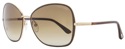 Tom Ford Butterfly Sunglasses TF319 Solange 28F Brown/Gold/Havana FT0319