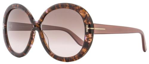 Tom Ford Round Sunglasses TF388 Gisella 50F Rose/Brown Havana FT0388