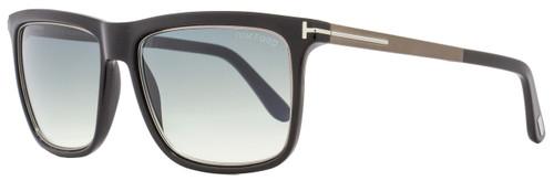 Tom Ford Rectangular Sunglasses TF392 Karlie 02W Shiny Black/Ruthenium FT0392