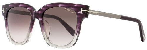 Tom Ford Square Sunglasses TF436F Tracy 83T Violet Melange/Ruthenium FT0436