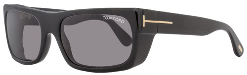 Tom Ford Rectangular Sunglasses TF440 Toby 01A Shiny Black/Gold FT0440