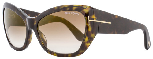 Tom Ford Butterfly Sunglasses TF460 Corinne 52G Dark Havana FT0460