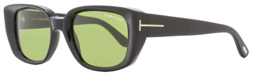 Tom Ford Rectangular Sunglasses TF492 Raphael 01N Shiny Black/Gold FT0492