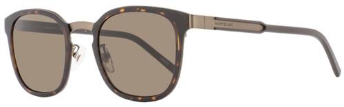 Montblanc Square Sunglasses MB603F 52E Matte Havana/Bronze 603