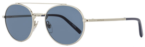 Montblanc Oval Sunglasses MB604S 16V Palladium/Blue 604