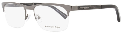 Ermenegildo Zegna Semi-Rimless Eyeglasses EZ5014 008 Size: 55mm Gunmetal/Black 5014