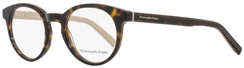 Ermenegildo Zegna Oval Eyeglasses EZ5024 056 Size: 47mm Dark Havana/Beige 5024