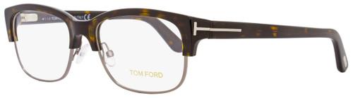 Tom Ford Rectangular Eyeglasses TF5307 053 Size: 52mm Shiny Havana/Ruthenium FT5307