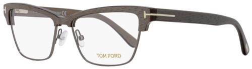 Tom Ford Rectangular Eyeglasses TF5364 020 Size: 53mm Chalkstripe Gray/Palladium FT5364
