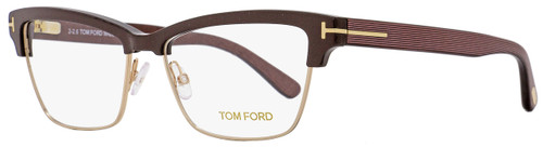 Tom Ford Rectangular Eyeglasses TF5364 048 Size: 53mm Pearl Brown/Gold FT5364