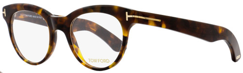 Tom Ford Oval Eyeglasses TF5378 052 Size: 49mm Vintage Havana/Gold FT5378