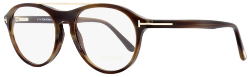 Tom Ford Oval Eyeglasses TF5411 062 Size: 53mm Brown Horn/Gold FT5411