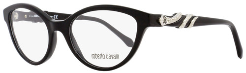 Roberto Cavalli Cateye Eyeglasses RC843 Asterope 001 Size: 52mm Black/Palladium 843