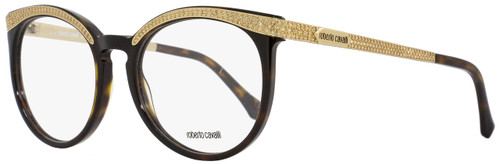 Roberto Cavalli Oval Eyeglasses RC965 Sham 052 Size: 54mm Havana/Rose Gold 965
