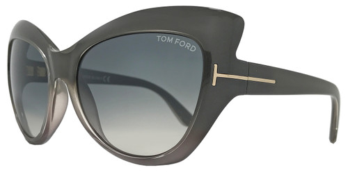 Tom Ford Cateye Sunglasses TF284 Bardot 20B Dove Gray Shaded FT0284