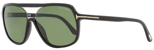 Tom Ford Rectangular Sunglasses TF442 Robert 01N Black/Gold FT0442