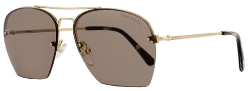 Tom Ford Aviator Sunglasses TF505 Whelan 28E Gold/Brown Horn FT0505