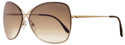 Tom Ford Butterfly Sunglasses TF250 Colette 48F Rose Gold FT0250
