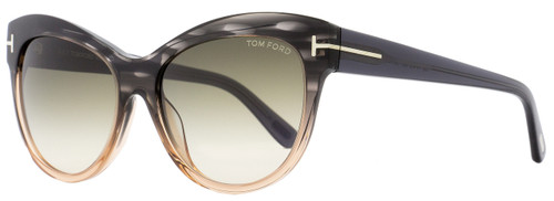 Tom Ford Cateye Sunglasses TF430 Lily 20P Melange Gray/Peach FT0430