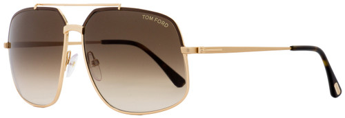Tom Ford Aviator Sunglasses TF439 Ronnie 48F Rose Gold/Brown FT0439