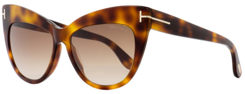Tom Ford Cateye Sunglasses TF523 Nika 53F Dark Havana FT0523