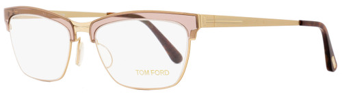 Tom Ford Cateye Eyeglasses TF5392 050 Size: 54mm Transparent Brown/Gold FT5392