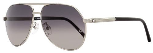 Montblanc Aviator Sunglasses MB504T 17C Matte Palladium/Black 504