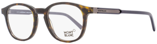 Montblanc Oval Eyeglasses MB632 056 Size: 50mm Dark Havana/Black 632