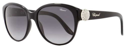 Chopard Oval Sunglasses SCH185S 0700 Black/Palladium 185