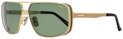 Chopard Rectangular Sunglasses SCHA80 383P Gold/Black Polarized A80