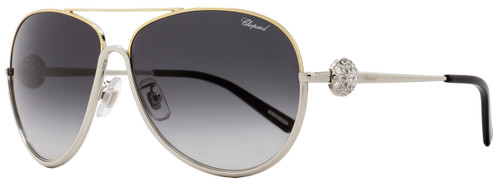 Chopard Aviator Sunglasses SCHB23S 0377 Palladium/Gold/Black B23