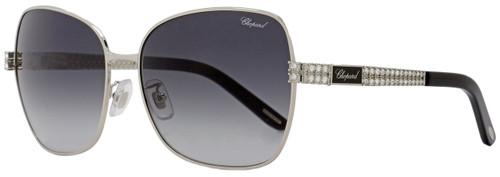 Chopard Rectangular Sunglasses SCHB25S 0583 Palladium/Black B25