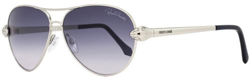 Roberto Cavalli Aviator Sunglasses RC884S Matar 16B Palladium/Dark Blue 884
