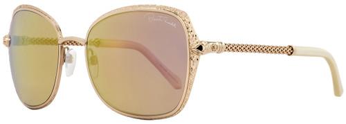 Roberto Cavalli Rectangular Sunglasses RC977S Tabit 28L Rose Gold/Ivory 977