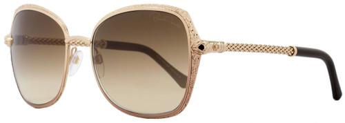 Roberto Cavalli Rectangular Sunglasses RC977S Tabit 33G Bronze/Gold/Brown 977