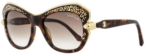 Roberto Cavalli Square Sunglasses RC981S Taygeta 52F Dark Havana/Gold 981
