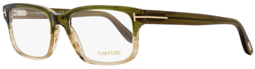 Tom Ford Rectangular Eyeglasses TF5313 098 Size: 55mm Striped Olive Green/Gold FT5313
