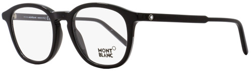 Montblanc Oval Eyeglasses MB613 001 Size: 50mm Black 613