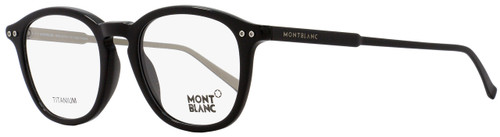 Montblanc Oval Eyeglasses MB614 005 Size: 49mm Black/Palladium 614