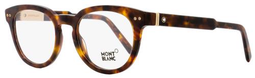 Montblanc Round Eyeglasses MB619 055 Size: 52mm Dark Havana 619